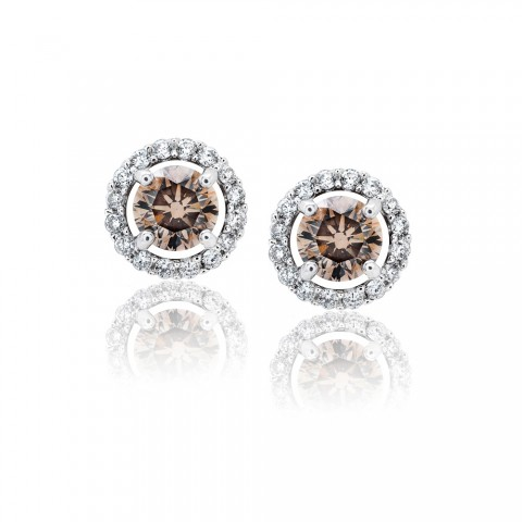 Cognac Diamond Earrings at JM Edwards Jewelry, NC