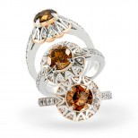 Rosewood Cognac Diamond Ring