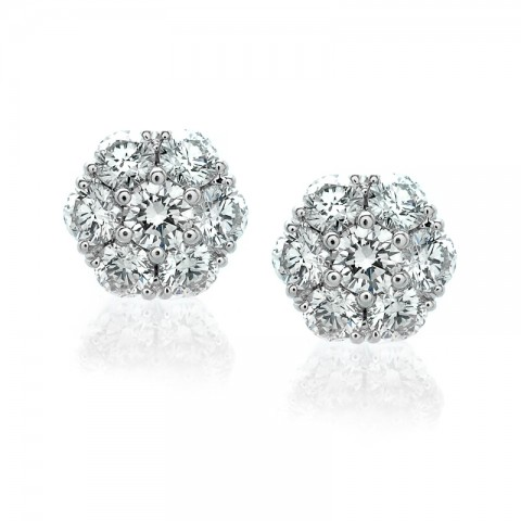 Diamond Cluster Earrings 122-10166