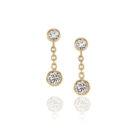 Diamond Drop Earrings 120-10111