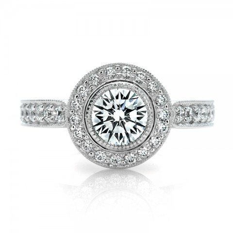 Diamond Halo Engagement Ring 900-00064