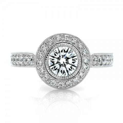 Diamond Halo Engagement Ring 900-00064