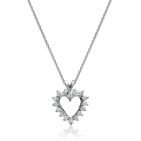 Diamond Heart Pendant 142-10079