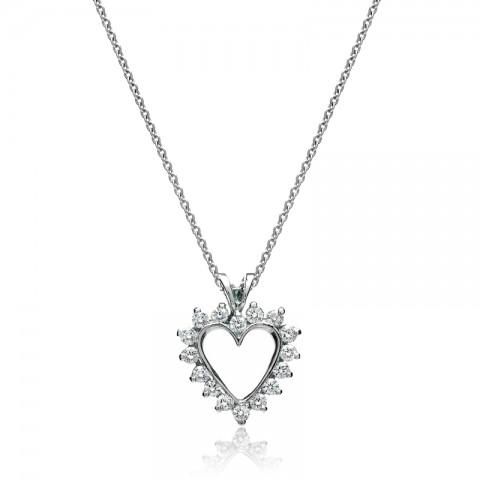 Diamond Heart Pendant 142-10079