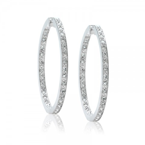 Diamond Hoop Earrings 122-10171
