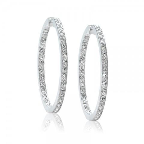 Diamond Hoop Earrings 122-10171