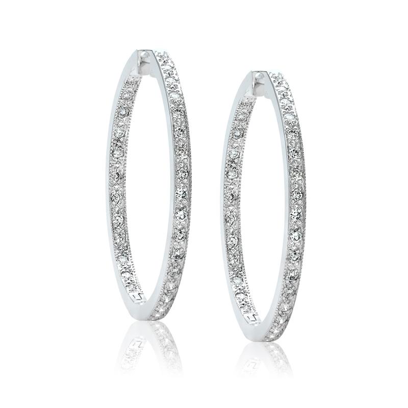 Diamond Hoop Earrings 122 10171