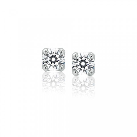 Diamond Stud Earrings on Diamond Stud Earrings Platinum Ideal Cut Round Brilliant Diamond Stud