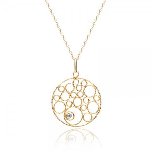 Gold Circle Pendant 151-10030