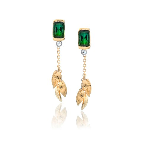 Green Tourmaline Earrings 221-10183