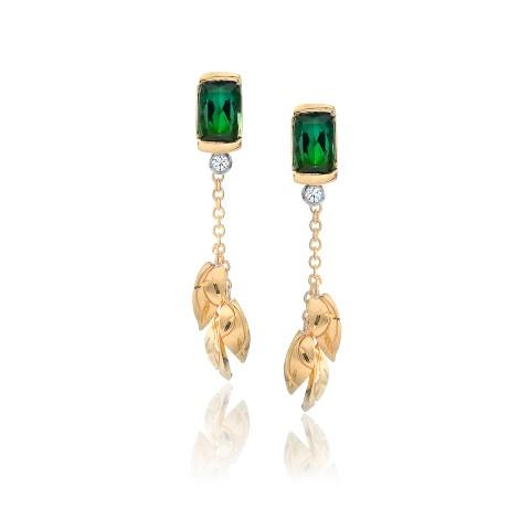 Green Tourmaline Earrings 221-10183