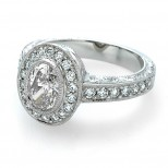 Oval Ester Diamond Ring