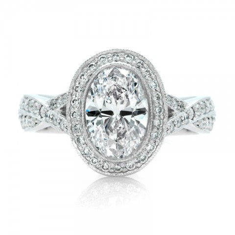 Oval Engagement Rings on Oval Diamond Engagement Ring Platinum Oval Diamond Engagement Ring The