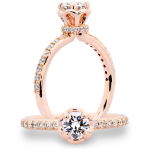 Rose Gold Engagement Rings Raleigh