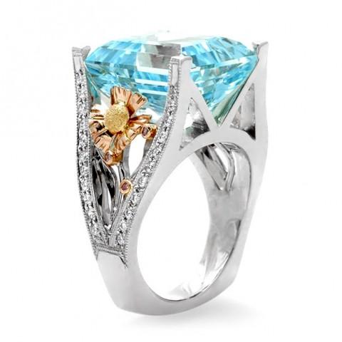 Rosewood Aqua Ring