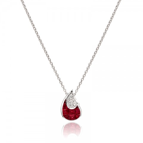 Ruby and Diamond Pendant 245-10009