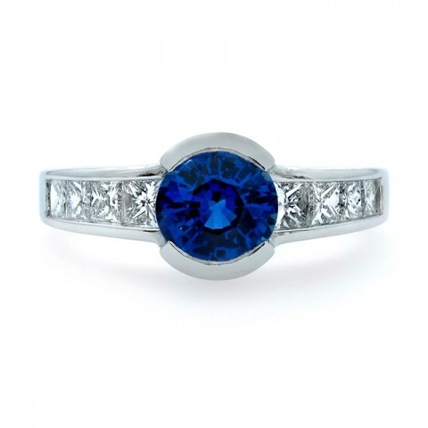 Sapphire and Diamond Ring 211-10460