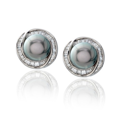 Tahitian Black Pearl Earrings 530-10180