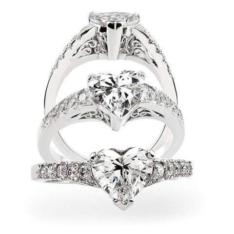 The Rebecca Heart Shape Diamond Ring