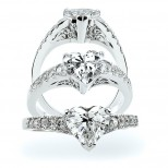The Rebecca Heart Shaped Diamond Ring
