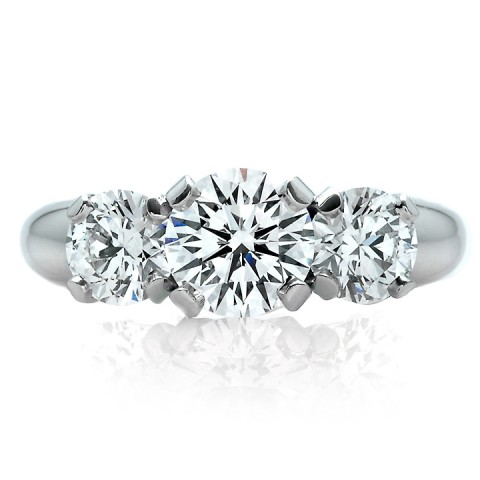 Three Stone Diamond Engagment Ring 900-00061