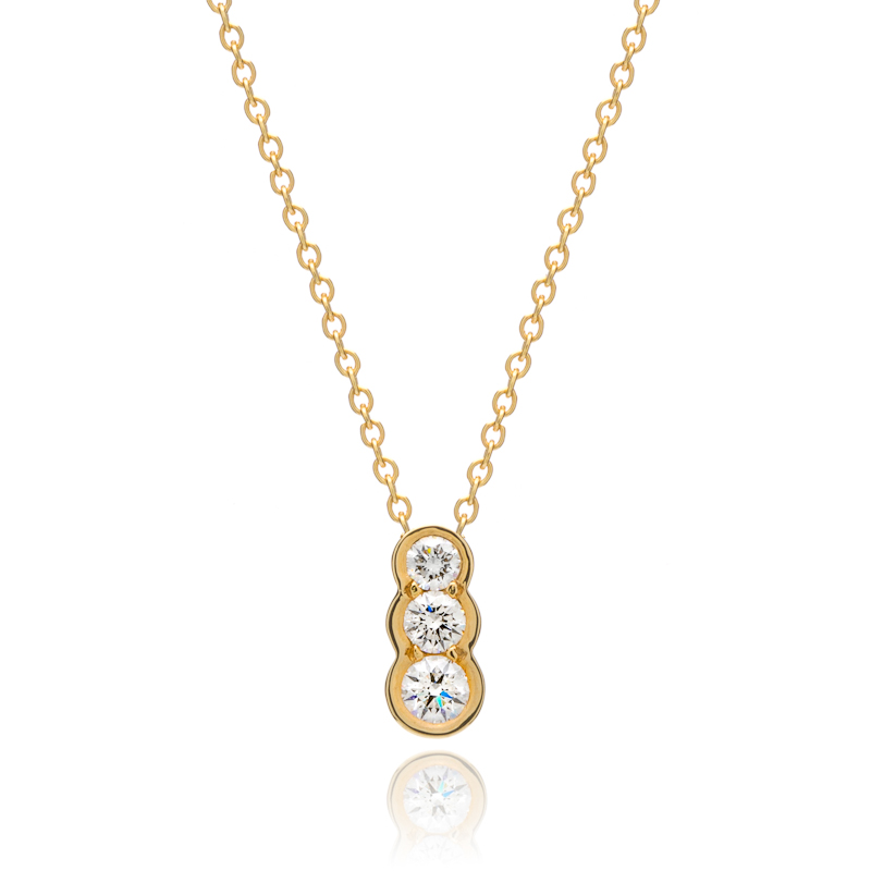 Diamond Stone Necklace