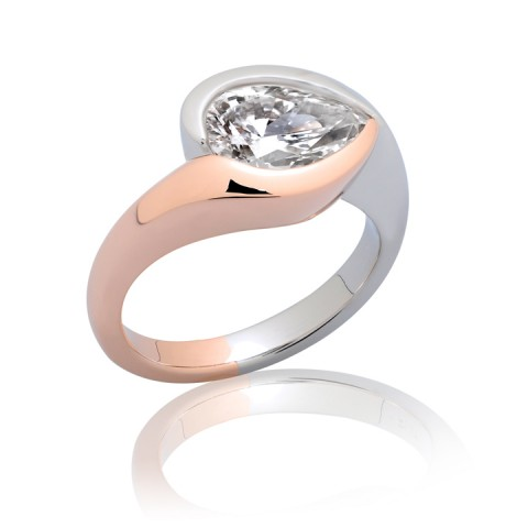 Bypass Diamond Engagement Ring_