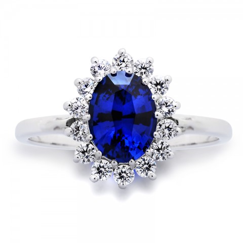 Sapphire and Diamond Ring 211-10585