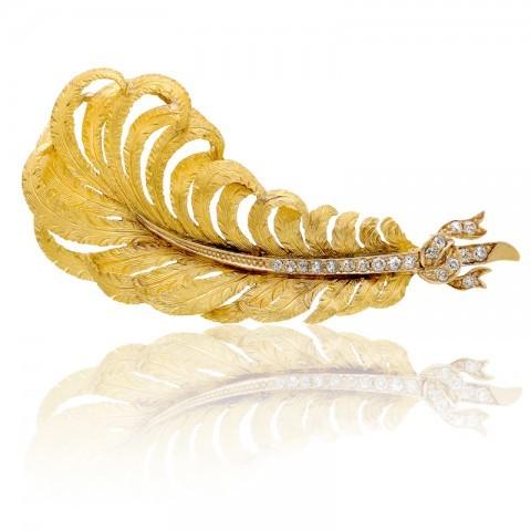 Antique-18kt-Gold-Diamond-Brooch-480x480