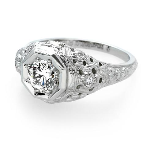 Antique Diamond Ring 900-00001 (2)