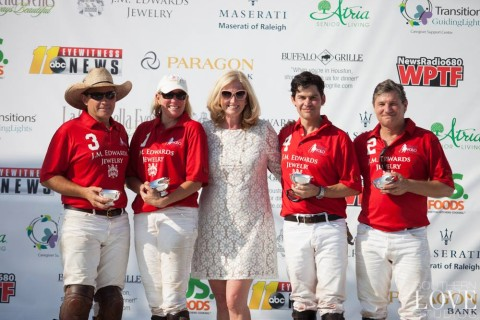 Rose with Polo Team