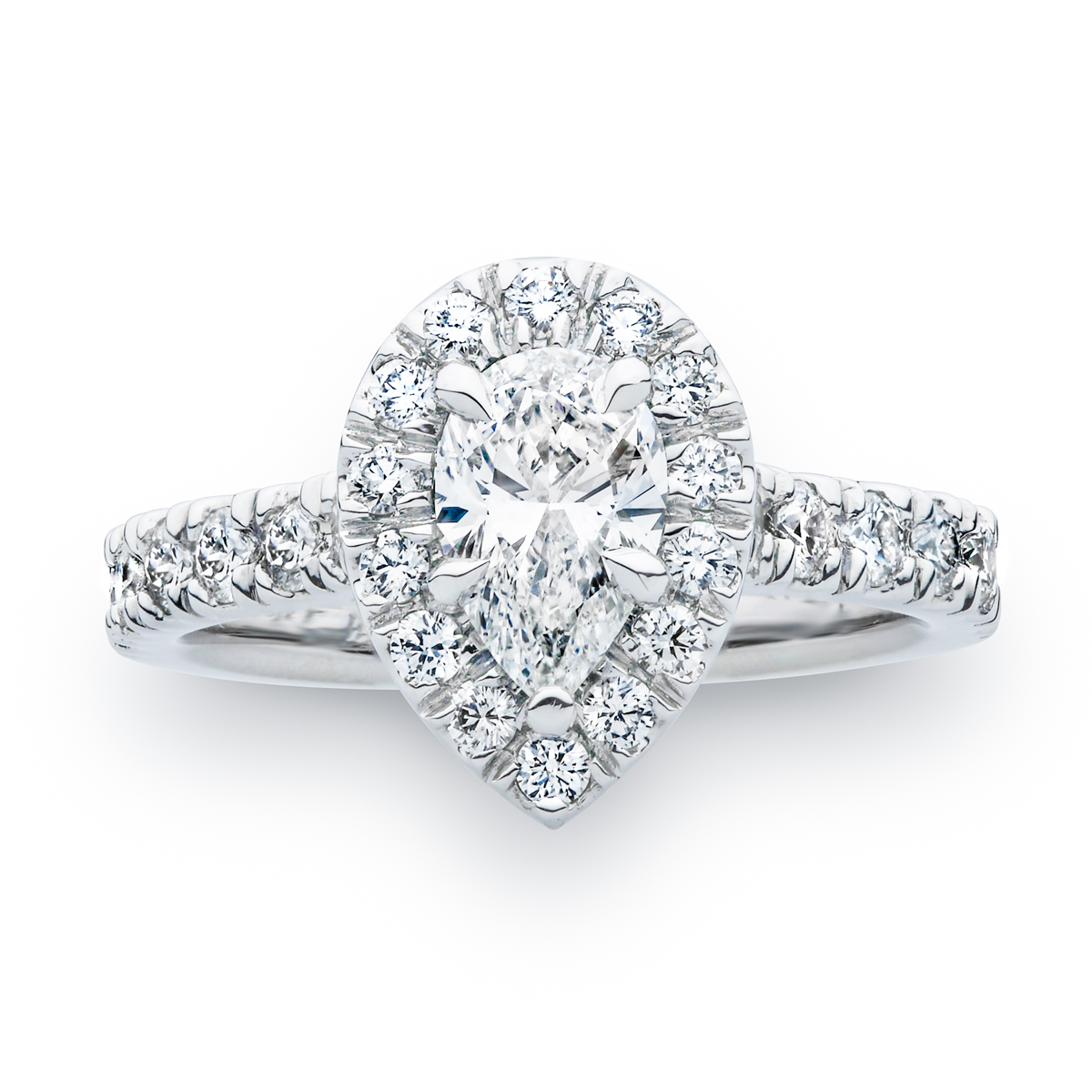 The Sydney Pear Shaped Diamond Engagement Ring