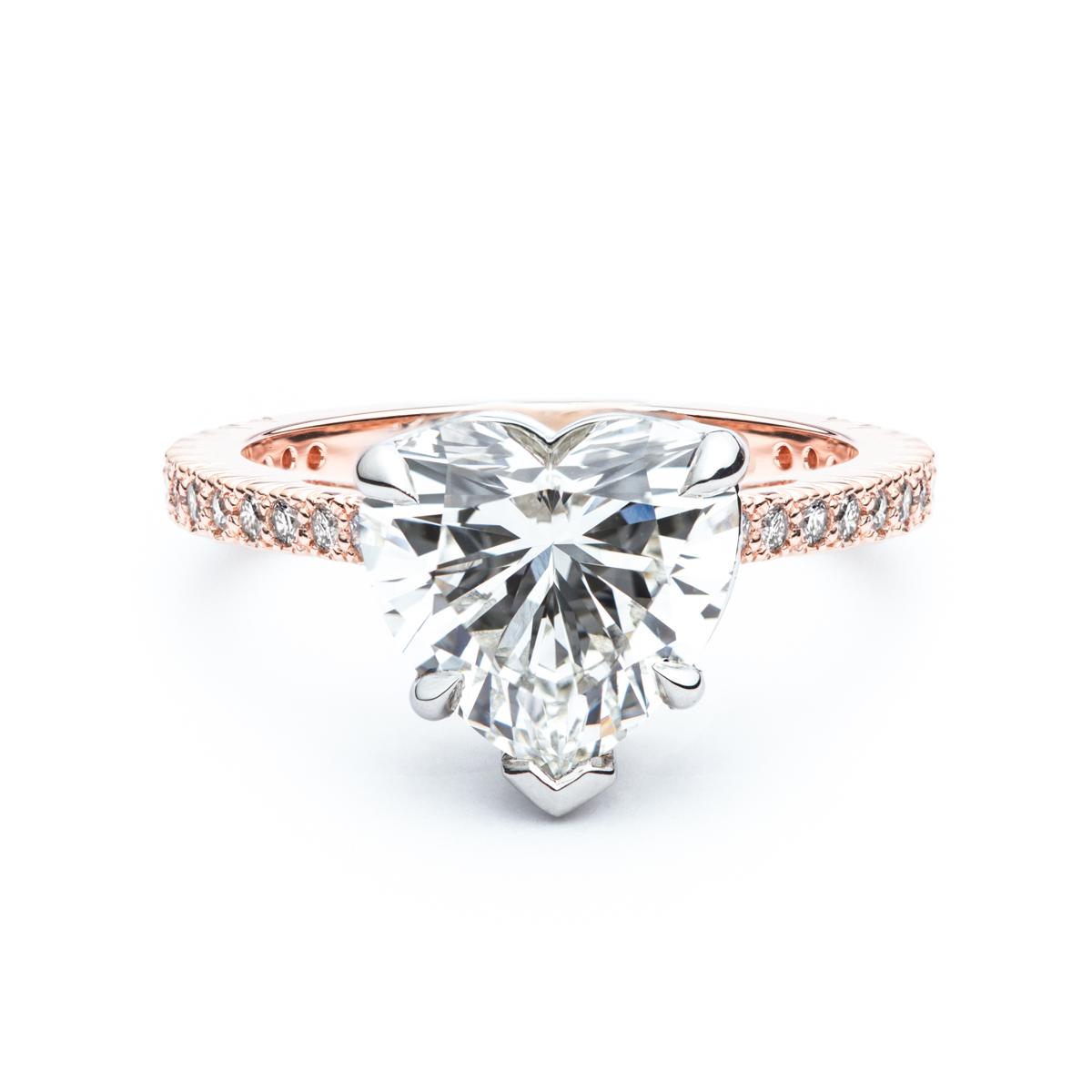 The Rose Heart Shaped Diamond Ring Jm Edwards Jewelry