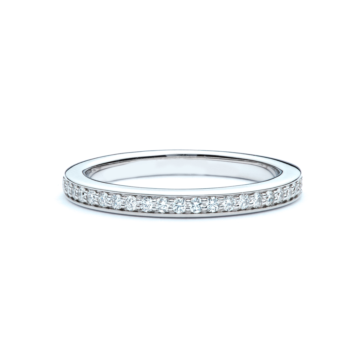 Delicate Bead Set Diamond Wedding Band