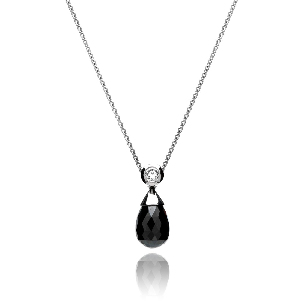 with an pendant in sterling diamond black silver everlight enhanced