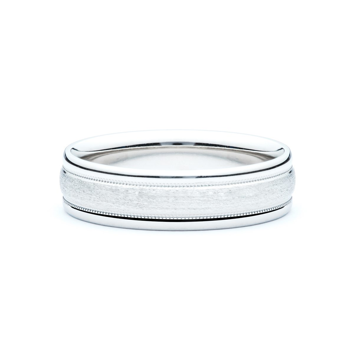 wedding band white gold mens platinum brushed finish blingby caen
