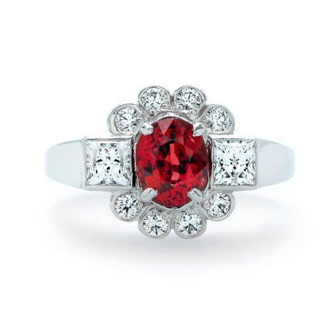 Ruby and Diamond Custom Ring