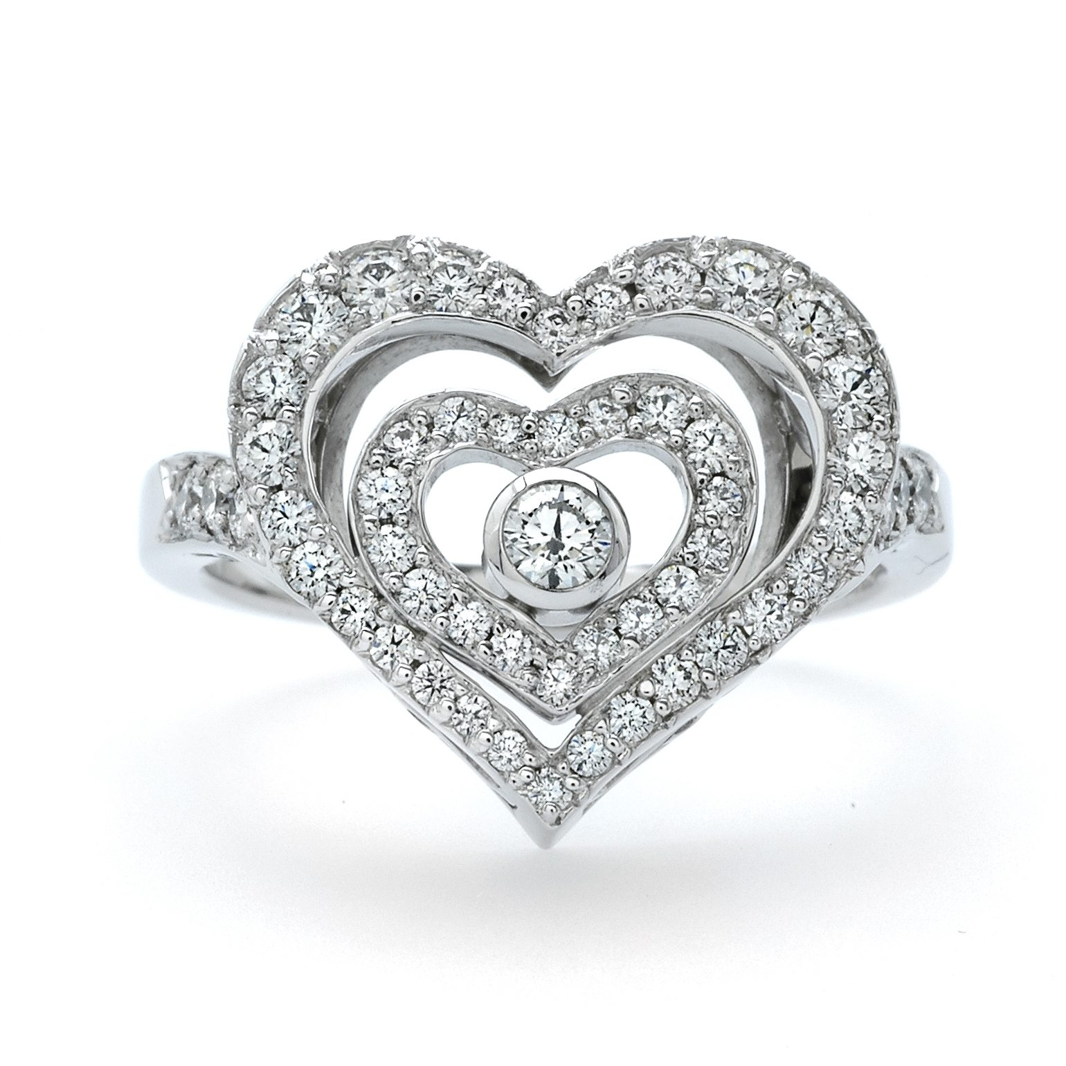The Valentine Diamond Heart Ring
