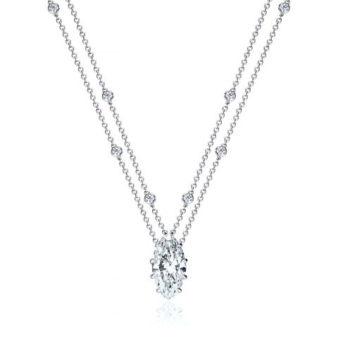 Marquise Diamond Station Necklace