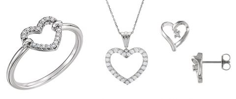 Diamond Heart Valentines Day Jewelry - Raleigh, Cary NC
